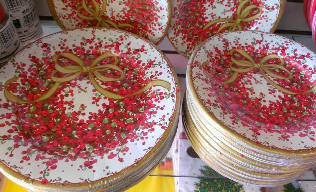 Christmas plates.