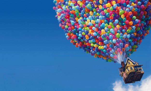 9.4 million party balloons needed to lift Carl's house