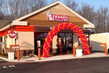 Dunkin' Donuts grand opening celebration