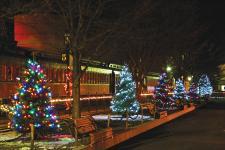 The Strasburg Rail Road at Christmas Time