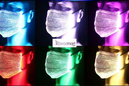 reusable LED face masks available in 7 colors
