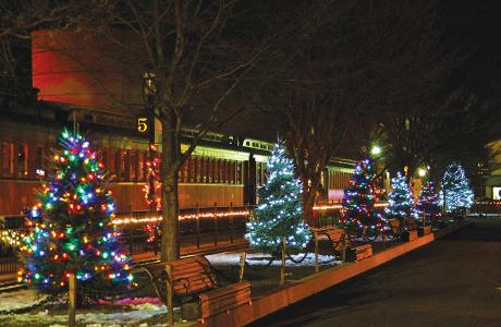 The Strasburg Rail Road at Christmas Time